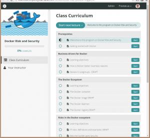 Docker Risk e-learning site