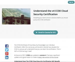 Understanding CCSK at Teachable page 1