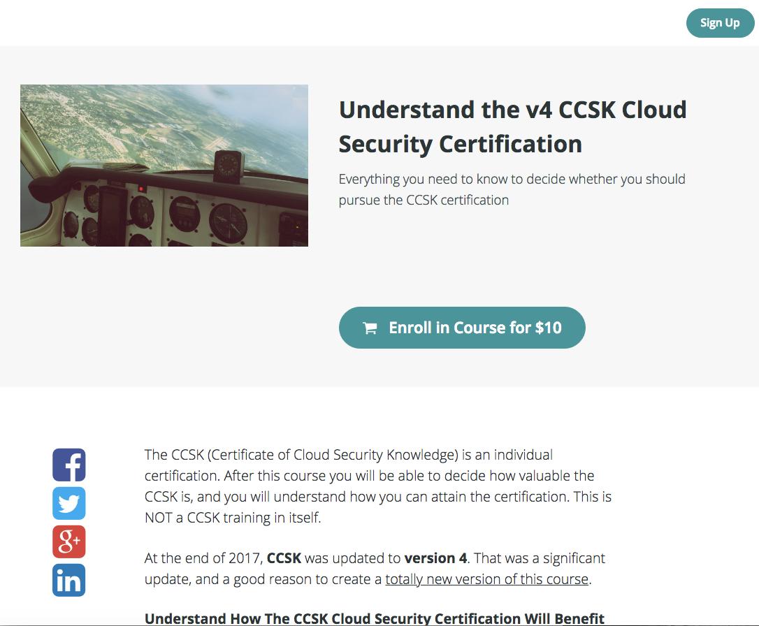 Understanding Ccsk Mini Course
