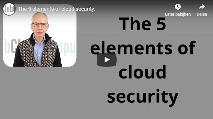 5 elements of cloud security - Club Cloud Computing